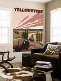 Yellowstone - Bison Scene Wall Mural by  Lantern Press