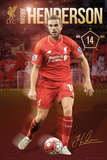 Liverpool- Henderson 15/16 Posters