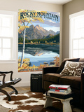 Long's Peak and Bear Lake - Rocky Mountain National Park Wall Mural by  Lantern Press