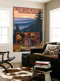 Great Smoky Mountains - Cades Cove, c.2009 Wall Mural by  Lantern Press