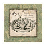 Vintage Green Tea Set Poster von Jo Moulton