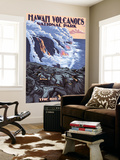 The Big Island, Hawaii - Lava Flow Scene Wall Mural by  Lantern Press