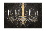 Grand Chandelier Black I Premium Giclee Print by James Wiens