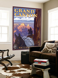 Grand Canyon National Park, Arizona, Mule Train Scene Wall Mural by  Lantern Press