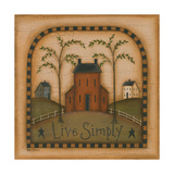 Live Simply Prints by Kim Lewis