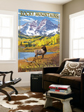Maroon Bells - Rocky Mountain National Park Wall Mural by  Lantern Press