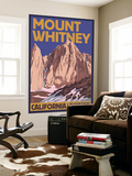 Mt. Whitney, California Peak Wall Mural by  Lantern Press