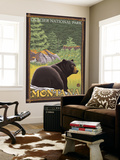Black Bear in Forest, Glacier National Park, Montana Wall Mural by  Lantern Press