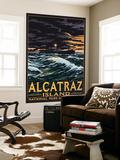 Alcatraz Island Night Scene - San Francisco, CA Wall Mural by  Lantern Press