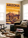 Arizona Desert Scene with Cactus Wall Mural by  Lantern Press