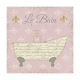 Vintage Bath VI Fleur Pink Print by Pela Studio