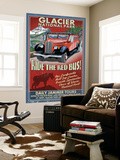 Glacier National Park - Red Jammer Wall Mural by  Lantern Press