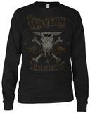 Long Sleeve:  Waylon Jennings- Drinkin and Dreamin T-shirts manches longues