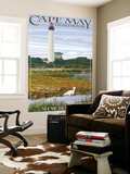 Cape May Lighthouse - New Jersey Shore Wall Mural by  Lantern Press
