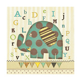 Alphabet Elephant Prints by Jo Moulton