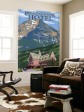 Waterton National Park, Canada - Prince of Wales Hotel Wall Mural by  Lantern Press