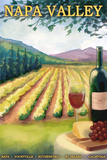 Napa Valley, California Wine Country Wall Mural by  Lantern Press