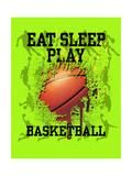 Eat Sleep Play Basketball Pósters por Jim Baldwin