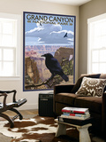 Grand Canyon National Park - Ravens and Angels Window Wall Mural by  Lantern Press