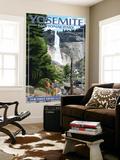 The Mist Trail - Yosemite National Park, California Wall Mural by  Lantern Press