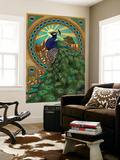 Peacock - Art Nouveau Wall Mural by  Lantern Press