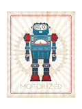 Retro Robot IV Prints by Jennifer Pugh