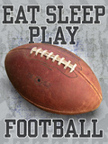 Eat Sleep Play Football Prints by Jim Baldwin