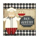Bistro Chef Bon Appetit Poster by Jennifer Pugh