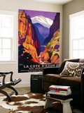 La Cote D'Azur Vintage Poster - Europe Wall Mural by  Lantern Press