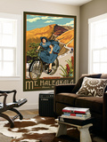Mt. Haleakala Bicycle Rides, Hawaii Wall Mural by  Lantern Press