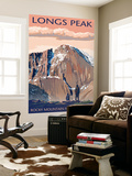 Longs Peak - Rocky Mountain National Park Wall Mural by  Lantern Press