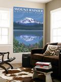Mount Rainier, Reflection Lake Wall Mural by  Lantern Press