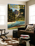 Merced River Rafting - Yosemite National Park, California Wall Mural by  Lantern Press