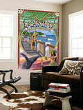Lahaina, Maui, Hawaii - Town Scenes Montage Wall Mural by  Lantern Press
