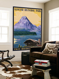 Two Medicine Lake - Glacier National Park, Montana Wall Mural by  Lantern Press