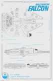 Star Wars The Force Awakens- Millennium Falcon Plans Posters