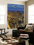 Chicago, Illinois, View of City from Sears Tower Wall Mural by  Lantern Press