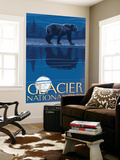 Bear in Moonlight, Glacier National Park, Montana Wall Mural by  Lantern Press
