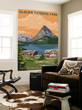 Many Glacier Hotel - Glacier National Park, Montana Wall Mural by  Lantern Press