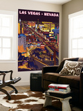 Las Vegas Strip at Night Wall Mural by  Lantern Press
