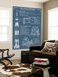 Apollo Missions - Blueprint Poster Wall Mural by  Lantern Press