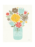Jar of Sunshine II Coral Peace Prints by Michael Mullan