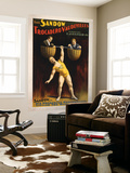 The Sandow Trocadero Vaudevilles Weightlifting Poster Wall Mural by  Lantern Press