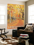 Vermont, Fall Colors Scene Wall Mural by  Lantern Press
