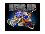 Gear Up Lacross Premium Giclee Print by Jim Baldwin