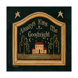 Dame siempre el beso de buenas noches, en inglés Pósters por Kim Lewis