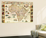 Africa - Panoramic Map - Africa Wall Mural by  Lantern Press