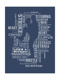 Baseball Words Premium Giclee Print by Jim Baldwin