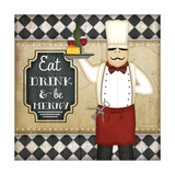 Bistro Chef Be Merry Posters by Jennifer Pugh