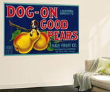 Dog On Good Pears Pear Crate Label - Suisun, CA Art Mural par  Lantern Press